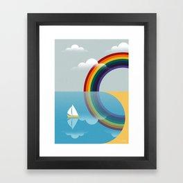 Rainbow by the Sea Framed Art Print