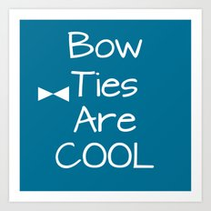 DOCTOR WHO Bow Ties Are Cool Teal Art Print