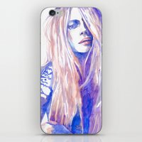 cara iPhone & iPod Skins featuring Cara by Ava Carmen