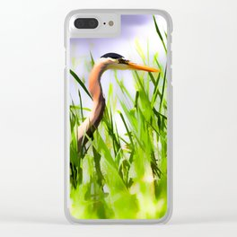 Master of the Marshes  -  Blue Heron Clear iPhone Case