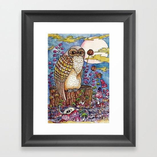 Staring at you Framed Art Print