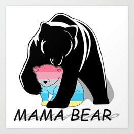 Mama Bear Genderflux Art Print