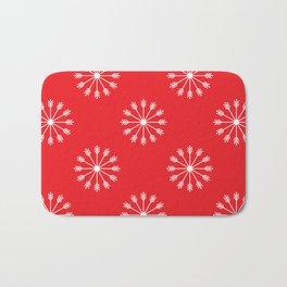Snowflakes pattern Bath Mat