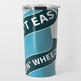 Asthma allergy awareness Ain't easy bein' wheezy Travel Mug