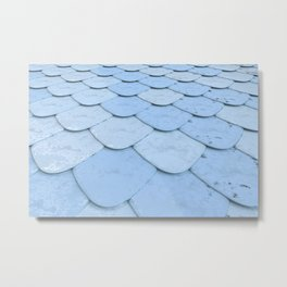 Pattern of blue rounded roof tiles Metal Print