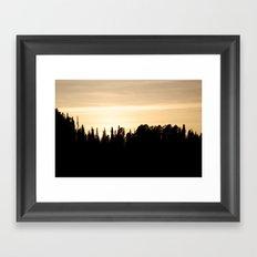 Whyoming Sunset Framed Art Print