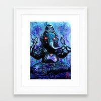 ganesh Framed Art Prints featuring ganesh by Juan Pablo Fertitta