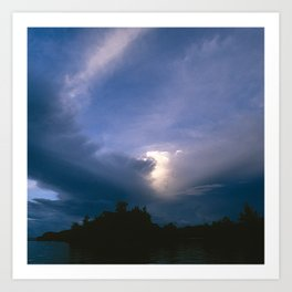 Ray of Hope in the Stormy Sky Art Print