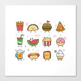 Food Doodle Canvas Print