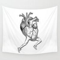 racing Wall Tapestries featuring Racing Heart by Other People's Characters