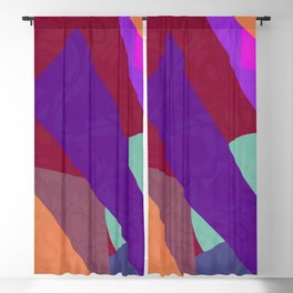 Multi Colored Red Purple Orange Geometric Abstact Blackout Curtain