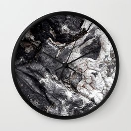 Marbled Wood - Photography by Fluid Nature Wall Clock