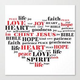fruit of the spirit,Galatians 5:22-23,Christian Bible Verse Quote Canvas Print