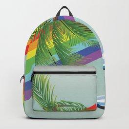 Hammock, Palm and rainbow Backpack