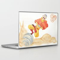 aang Laptop & iPad Skins featuring Avatar - Air Bending  by xCoCox