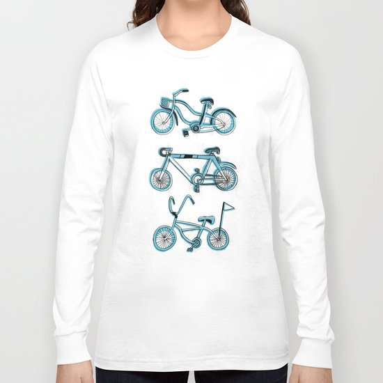 Gonna ride my bike 'til I get home(blue) Long Sleeve T-shirt