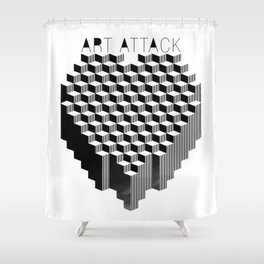 VISION CITY - ART ATTACK Shower Curtain