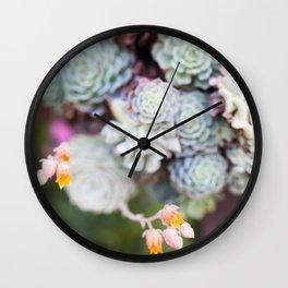 Succulent Bloom Wall Clock