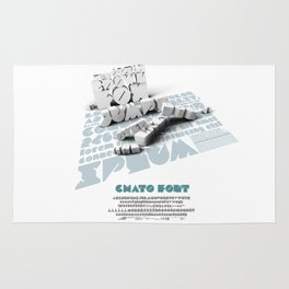 Chato Font poster Rug