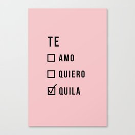 Te amo funny text Canvas Print