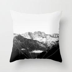 Crystal Mountain (black) Throw Pillow