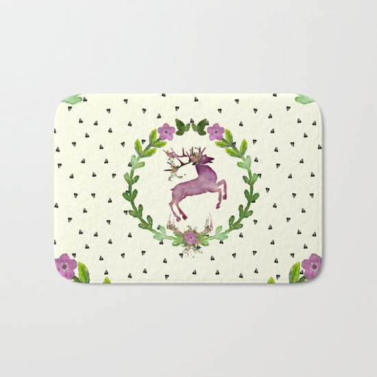Deer Pattern 02 Bath Mat