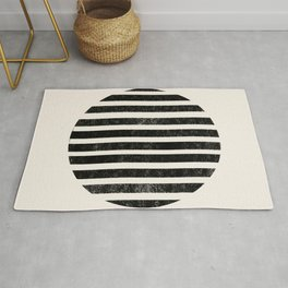 Abstract black shapes Rug