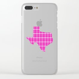 Texas State Shape: Pink Clear iPhone Case
