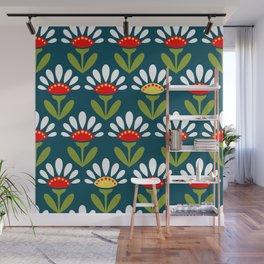 Retro Flower pattern Wall Mural