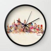 ohio Wall Clocks featuring cincinnati ohio  by bri.b