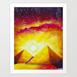 Exquisite Giza Art Print