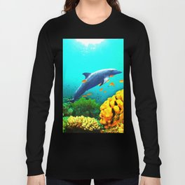 Dolphin in Water Long Sleeve T-shirt