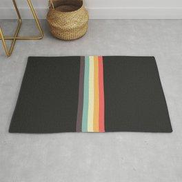 Minimal Classic Rainbow Retro Stripes - Tipua Rug