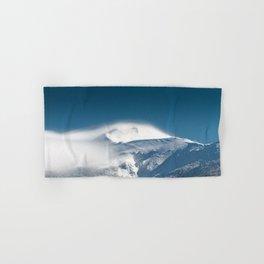 Misty clouds over snowy mountain Snežnik, Slovenia Hand & Bath Towel
