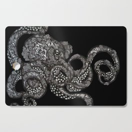 Barnacle Octopus in Black Cutting Board