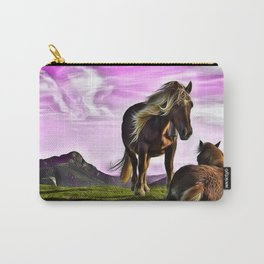 Horses In A Magical Land Carry-All Pouch