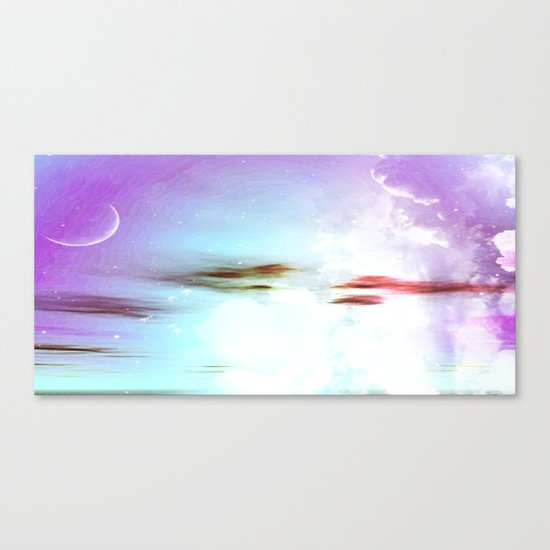 Pastel moon Canvas Print
