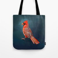 cardinal Tote Bags featuring Cardinal by Freeminds