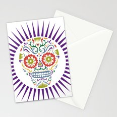 Sugar Skull SF multi 2 - on white Stationery Cards