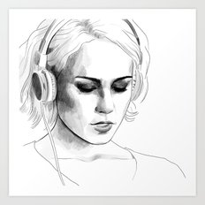 Sense8 Riley Blue - Character portrait series Art Print