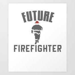 Future Fire Fighter Art Print