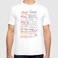Grandmother's Shopping List White MEDIUM Mens Fitted Tee