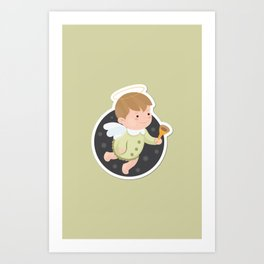 Little Angel Icon Art Print