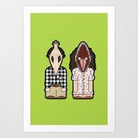 Beetlegeuse Lovers Art Print