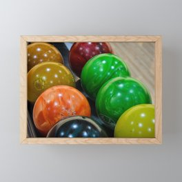 Bowling Balls Framed Mini Art Print