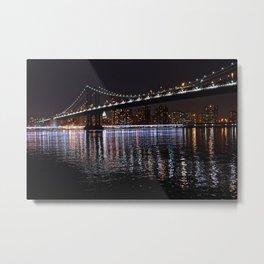 Manhattan Bridge night 1 Metal Print