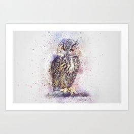 Helium Owl Art Print