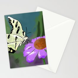 Butterfly and flower Stationery Cards