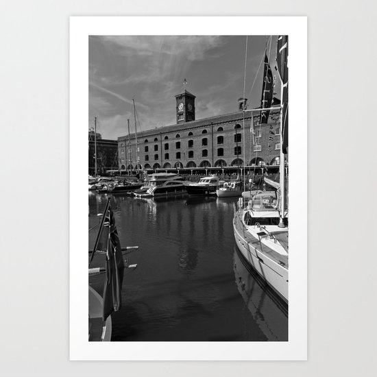 St Katherine's Dock London  Art Print