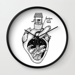 People's hearts are like deep wells Wall Clock